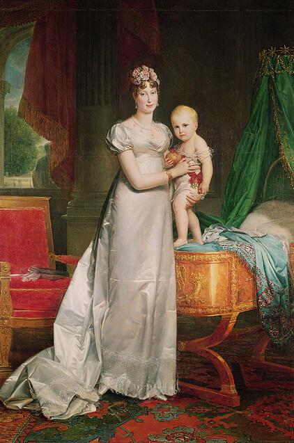 Image of Marie Louise (1791-1847) and the King of Rome (1811-32) (oil on canvas) © Bridgeman Images