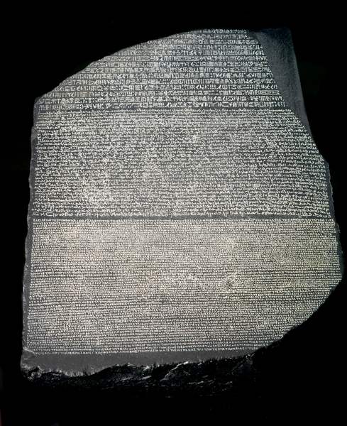 Rosetta Stone - The stone was discovered by the army of Napoleon in 1799 in the Rosette region of Egypt / Luisa Ricciarini / Bridgeman Images