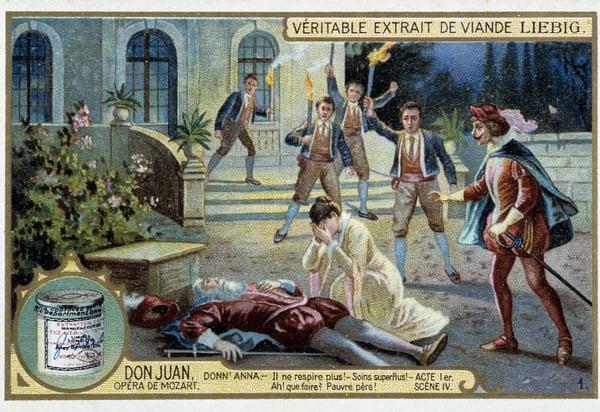 Don Juan: Act I, Scene IV, the death of Donn'Anna's father / Photo © Leonard de Selva / Bridgeman Images