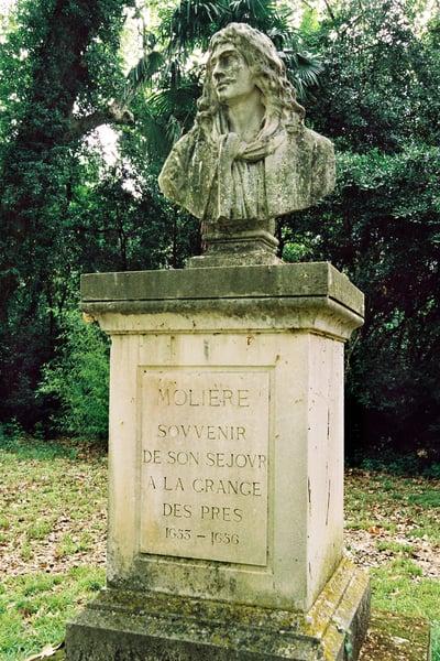 La Grange des Pres: bust of Moliere under the plane trees / Bridgeman Images