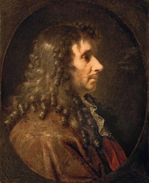 Portrait of Moliere (1622-73) 1660 (oil on canvas) / Bridgeman Images