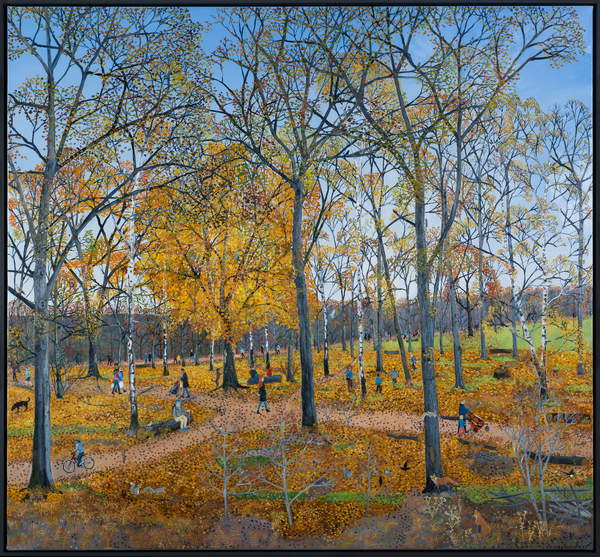 Autumn leaves, 2020, (oil on canvas) / Private Collection / © Emma Haworth / Bridgeman Images