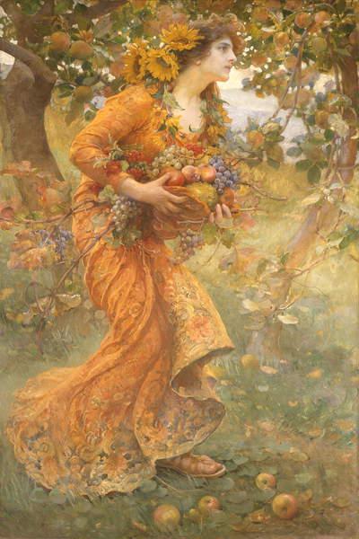 Autumn, 1912 (oil on canvas), Dvorak, Franz (1862-1927)  Private Collection  Photo © Whitford & Hughes, London, UK  Bridgeman Images