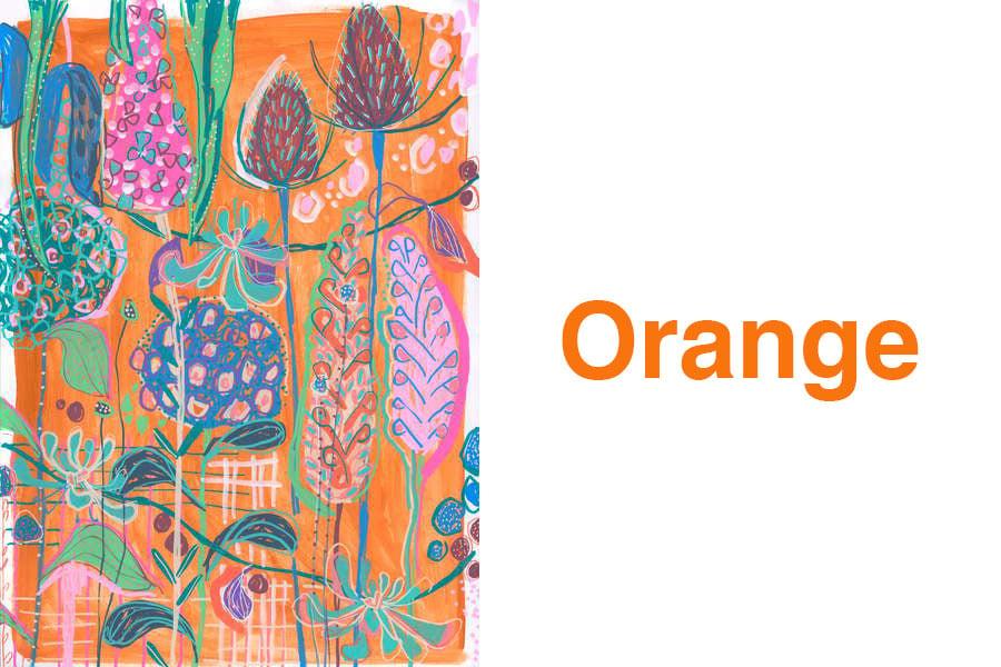 Fall Colors - Orange Hydrangeas, 2019 (gouache on paper) © Lucy Innes Williams  Bridgeman Images
