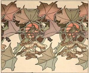 Detail of Plate 39 from Documents Decoratifs, 1902 (colour litho) Alphonse Mucha © Mucha Trust  Bridgeman Images