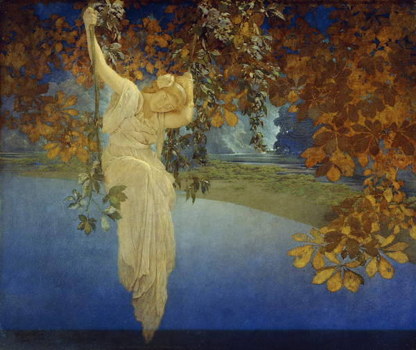 Reveries, 1913 (oil on canvas), Parrish, Maxfield Frederick (1870-1966)  Private Collection  Photo © Christies Images  Bridgeman Images