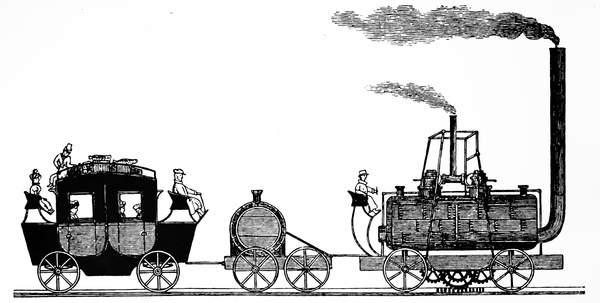 Matthew Murrays steam locomotive built for John Blenkinsop.  Universal History ArchiveUIG  Bridgeman Images  5308295
