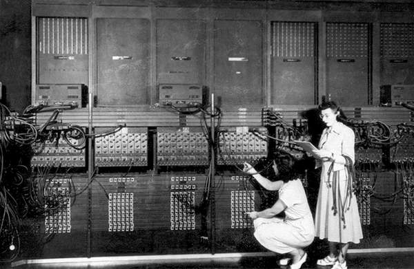 The computer ENIAC (Electronic Numerical Integrator And Computer) developed at the University of Pennsylvania in 1946- 1st electronic computer  PVDE  Bridgeman Images  1682470