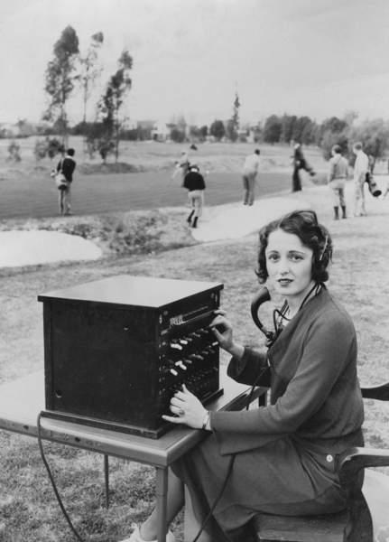 Woman at a switchboard, 1931 (bw photo)  © SZ Photo  Bridgeman Images  6364384