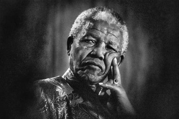 Mandela Pensive © Keith Bernstein / Bridgeman Images