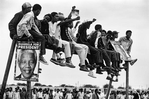 Waiting for Mandela © Keith Bernstein / Bridgeman Images