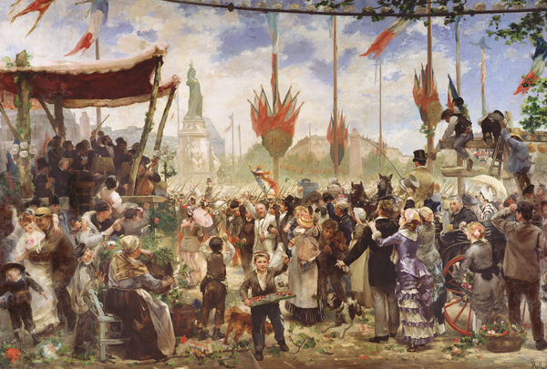 IMAGE OF THE PAINTING The 14th July 1880, 1882 (oil on canvas) Alfred Roll (1846-1919) / Musee de la Ville de Paris, Musee du Petit-Palais, France © Bridgeman Images