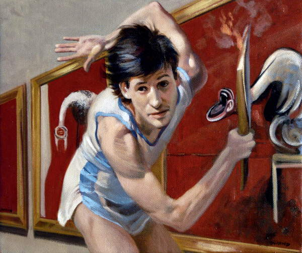 Sebastian Coe Cultural Olympiad, 2009 (oil on canvas), André Durand (Contemporary Artist) / Private Collection / © André Durand / Bridgeman Images