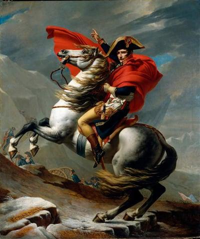 Napoleon Crossing the Alps, May 1800, 1802-03 (oil on canvas), David, Jacques Louis (1748-1825) / Kunsthistorisches Museum, Vienna, Austria / Luisa Ricciarini / Bridgeman Images