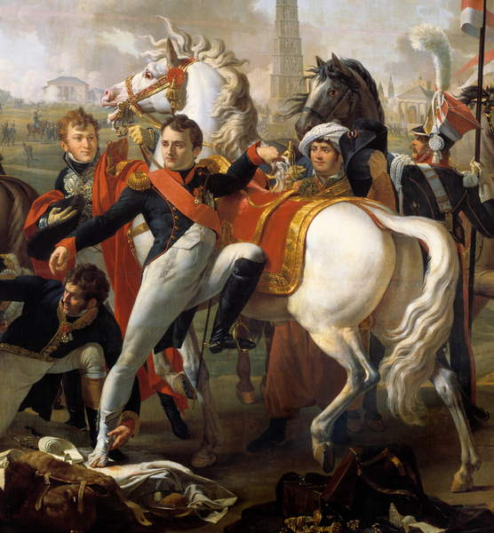 Napoleon I, wounds in front of Regensburg, is treated by surgeon Yvan, April 23, 1809. Painting by Pierre Gautherot (1765-1825).  Château de Versailles, France  Photo © Photo Josse  Bridgeman Images