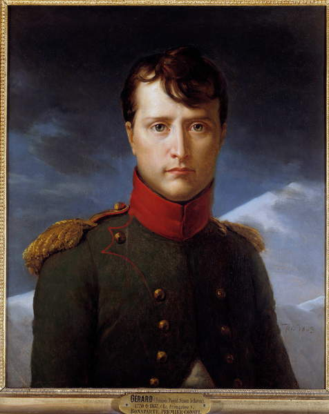 Portrait of Napoleon Bonaparte (1769-1821) as First Consul -Apinting by Francois Gerard (1770-1837), oil on canvas (62 x 53 cm), 1903  / Musee Conde, Chantilly, France © Photo Josse / Bridgeman Images