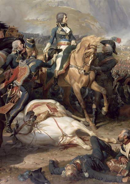 The Battle of Rivoli, 1844 (oil on canvas) (detail of 28341), Philippoteaux, Felix (c.1815-84)  Château de Versailles, France  Bridgeman Images