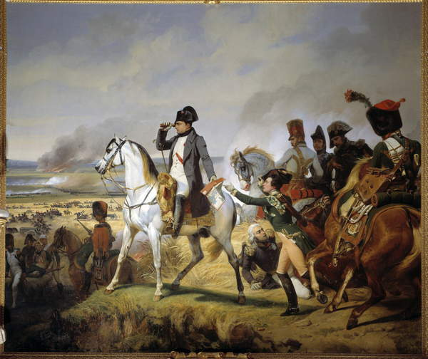 The Battle of Wagram, 6 July 1809. Painting by Emil Jean-Horace Vernet called Horace Vernet (1789-1863), circa 1835. Oil on canvas. Château de Versailles, France  Photo © Photo Josse  Bridgeman Images