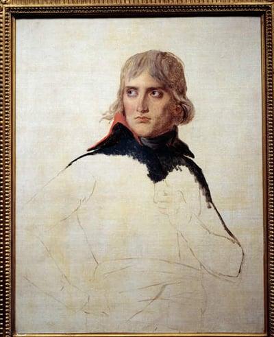 Unfinished Portrait of Napoleon Bonaparte (1769-1821) in General Painting by Louis David (1748-1825) Around 1798. Dim. 0,81x0,65 m., David, Jacques Louis (1748-1825)  Louvre, Paris, France  Photo © Photo Josse  Bridgeman Images  4633127