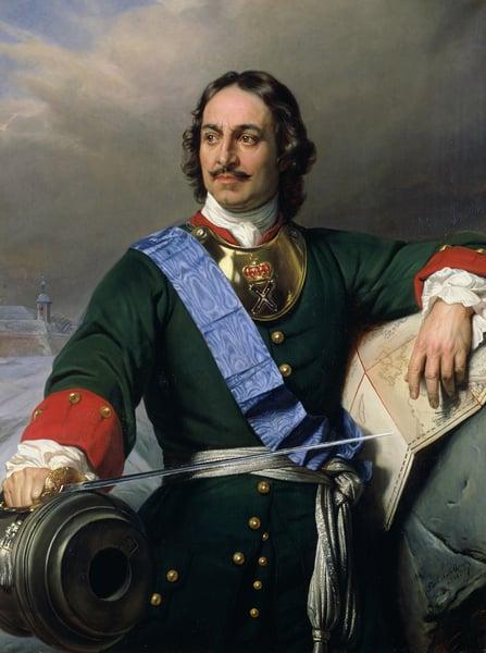 Peter I the Great (1672-1725) 1838 (oil on canvas) / Hippolyte (Paul) Delaroche (1797-1856) / Bridgeman Images