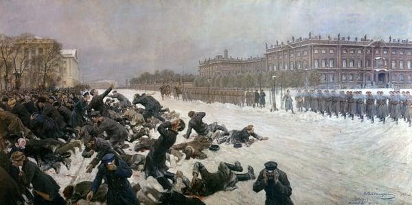 Beginning of the Russian Revolution of 1905 / Ivan Alexeyevich Vladimirov (1869-1947) / Photo © Photo Josse / Bridgeman Images