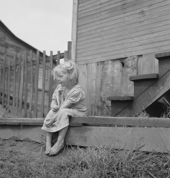 Coal Miners Daughter, Chaplin, West Virginia, USA, 1938 (bw photo), Wolcott, Marion Post (1910-90)  Circa Images  Bridgeman Images