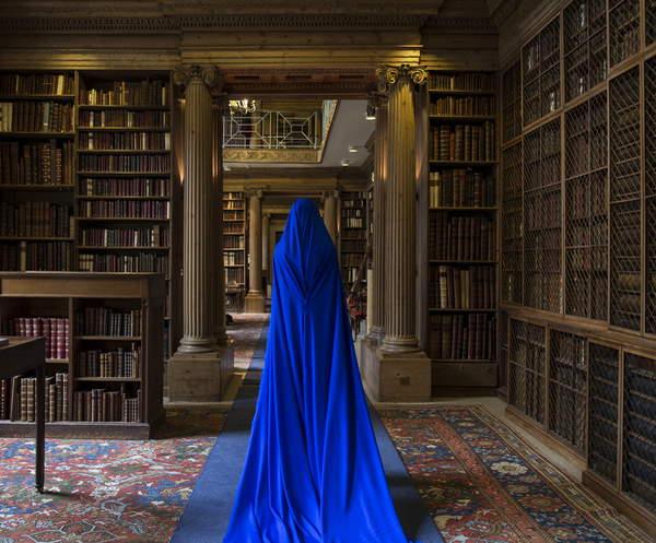 Eton College Library and She I, 2017 (photo), Ates, Güler (b.1977) Private Collection © Guler Ates Bridgeman Images 5058775
