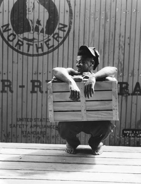 Migrant shed worker, Northeast Florida, 1936 (bw photo), Lange, Dorothea (1895-1965)  Private Collection  Bridgeman Images
