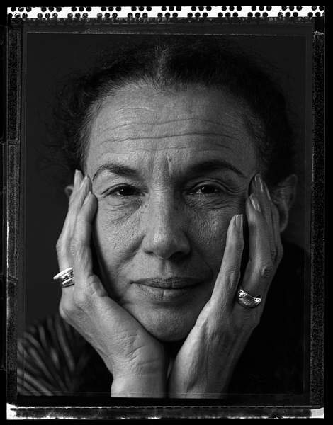 Portrait of American photographer Mary Ellen Mark. Photography, 1992, Paris  Photo © Philippe VermesArtedia  Bridgeman Images