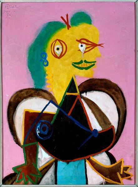 Portrait of Lee Miller by Pablo Picasso, Picasso, Pablo (1881-1973)  Photo © Derek Bayes  Bridgeman Images
