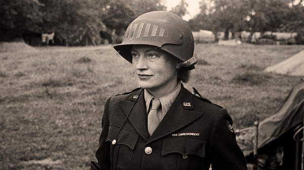 Portrait of Lee Miller, c.1943 (photo), American School, (20th century)  US Army Center of Military History, Virginia, USA  Prismatic Pictures  Bridgeman Images