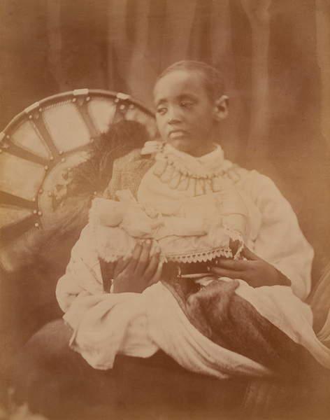 Prince Dejatch Alamayou of Abyssinia, c.1868 (bw photo), Cameron, Julia Margaret (1815-79)  Victoria & Albert Museum, London, UK  The Stapleton Collection  Bridgeman Images