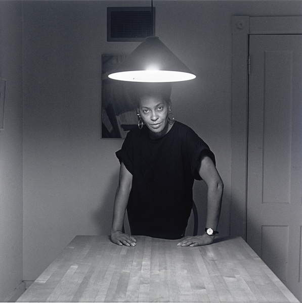 Untitled (Self-Portrait, Kitchen Table Series), 1990 (gelatin silver print), Weems, Carrie Mae (b.1953)  Private Collection  Photo © Christies Images  Bridgeman Images