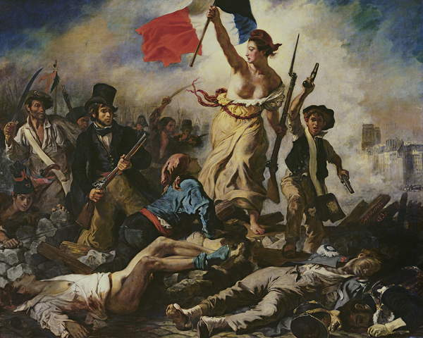 Freedom leads the people, Ferdinand Delacroix, Louvre Museum, Paris / Bridgeman Images