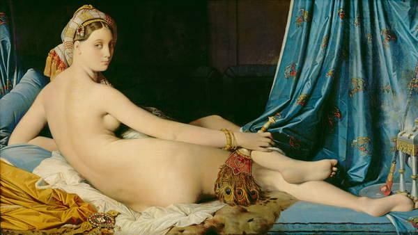 The great odalisque, Jean-Auguste-Dominique Ingres, 1814, Louvre Museum, Paris © Bridgeman Images