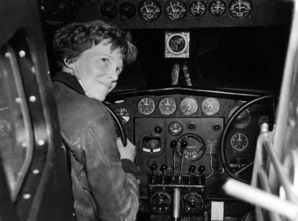 Amelia Earhart in her Lockheed L-10E Electra prepares for 27,000 mile globe flight, Alameda, CA, 1937  CSU ArchivesEverett Collection  Bridgeman Images