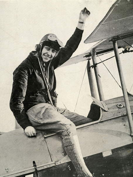 Amy Johnson British Aviatrice 1903 1941 Covered 6,800 kilometres in 20 days between London and Port Darwin, Australia Photograph from Le Monde Illustré magazine May 31, 1930  Collection Gregoire  Bridgeman Images