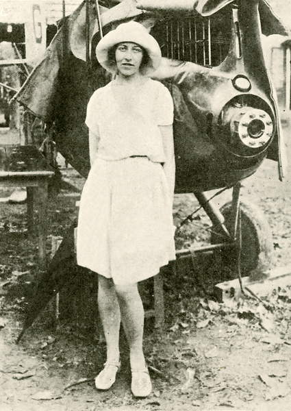 Amy Johnson after the mishap at Insein, Burma 1932 (bw photo), English Photographer, (20th century)  Private Collection  © Look and Learn  Bridgeman Images