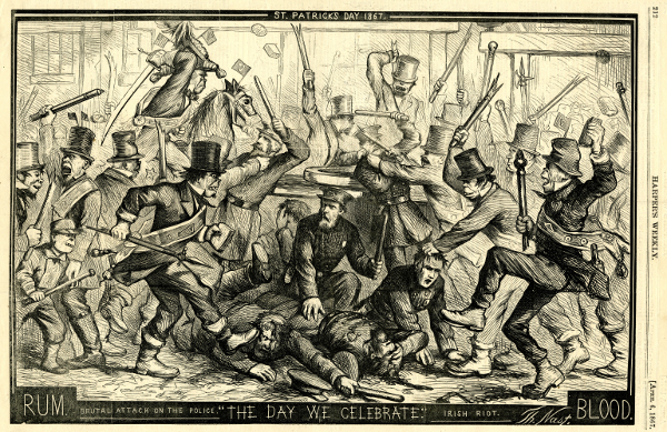 St. Patrick's Day, 1867 by Thomas Nast / © Collection of the New-York Historical Society, USA