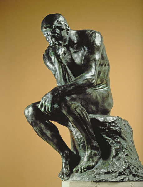 The Thinker, 1881 (for detail see 63999), Auguste Rodin (1840-1917) / Musee Rodin, Paris, France / Bridgeman Images
