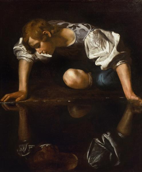 Narcissus, c.1597-99 (oil on canvas), Michelangelo Merisi da Caravaggio (1571-1610) / Palazzo Barberini, Gallerie Nazionali Barberini Corsini, Rome, Italy / Bridgeman Images