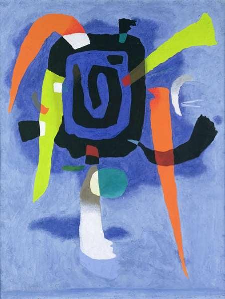 Bluxao V, 1955 (tempera on paper), Willi Baumeister, (1889-1955) / Hamburger Kunsthalle, Hamburg, Germany / Bridgeman Images