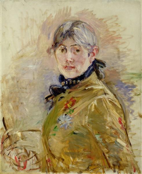 Self Portrait, 1885 by Berthe Morisot /  Musee Marmottan Monet, Paris, France