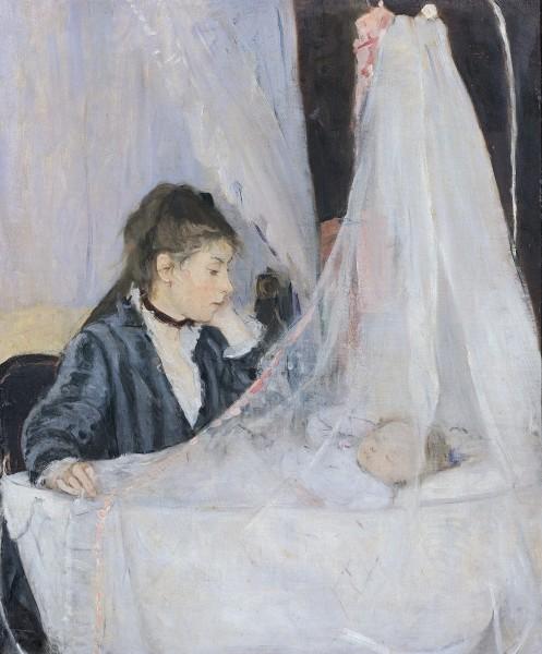 The Cradle, 1872 by Berthe Morisot / Musee d'Orsay, Paris/ Giraudo