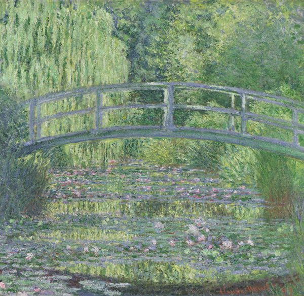 The Waterlily Pond: Green Harmony, 1899 (oil on canvas), Claude Monet (1840-1926) / Musee d'Orsay, Paris, France