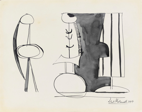Untitled, 1944 (pen & ink and wash on paper), Motherwell, Robert (1915-1991) / Private Collection / Photo © Christie's Images