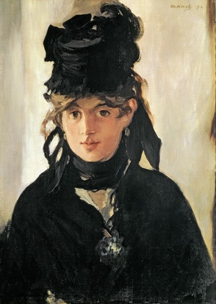 Berthe Morisot with a Bouquet of Violets, 1872 by Edouard Manet / Musee d'Orsay, Paris