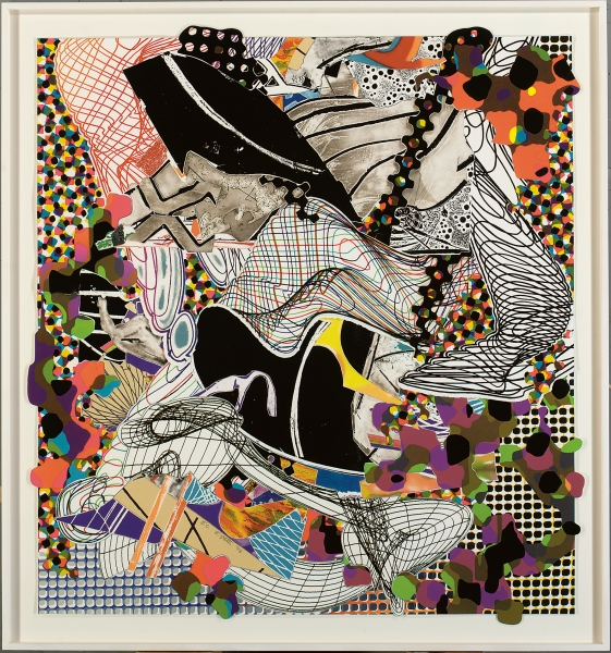 The Whale-Watch, from 'Moby Dick Deckle Edges', 1993 (colour litho, etching, aquatint & relief on paper), Frank Stella (b.1936) / Private Collection / Photo © Christie's Images