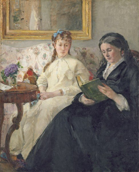 Portrait of the Artist's Mother and Sister, 1869-70 by Berthe Morisot /  National Gallery of Art, Washington DC