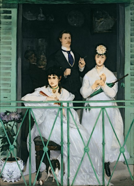 The Balcony, 1868-9 by Edouard Manet / Musee d'Orsay, Paris/ Giraudon